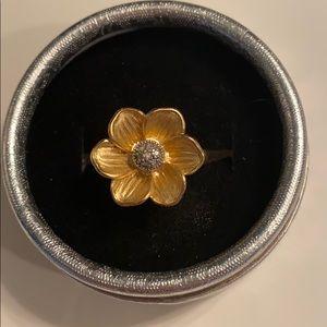 Lia Sophia gold flower ring